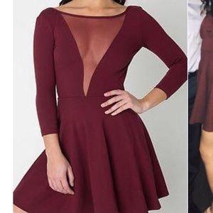 Maroon American apparel dress